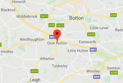 map showing location in Bolton